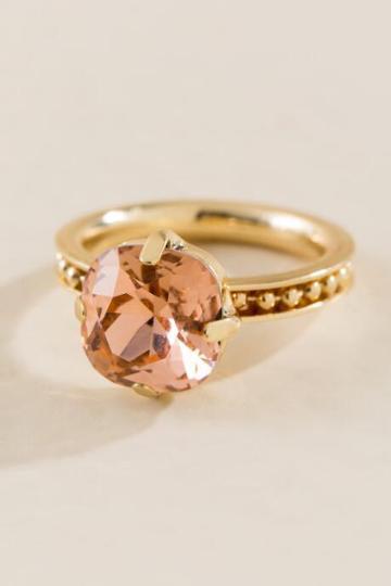 Francesca Inchess Kinsley Crystal Ring - Pink
