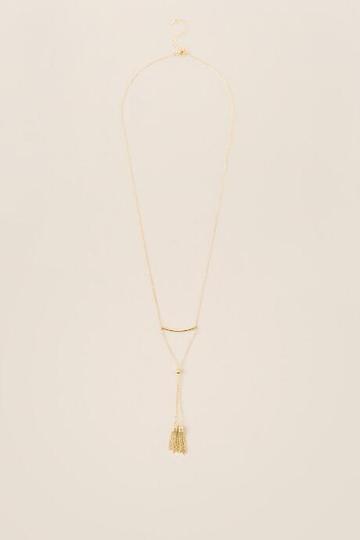 Francesca's Ariadne Delicate Tassel Necklace - Gold