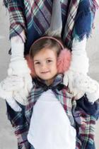 Francesca's Eva Kids Fur Cuff Mittens - Ivory