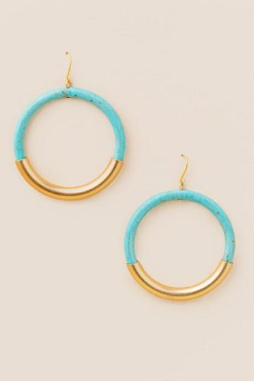 Francesca Inchess Sienna Resin Earrings In Turquoise - Turquoise