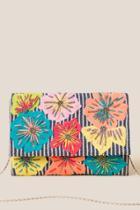 Francesca's Aislinn Beaded Floral Clutch - Multi