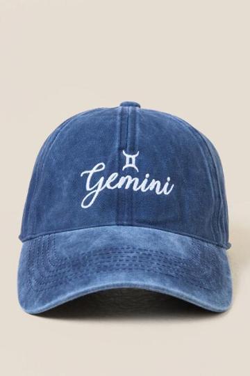 Francesca's Gemini Baseball Cap - Navy