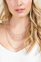 Francesca Inchess Blake Layered Statement Necklace - Rose/gold