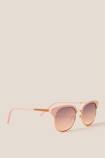 Francesca's Caicos Club Master Sunglasses - Pink