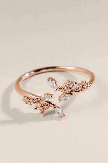 Francesca's Ella Cz Vine Ring - Rose/gold