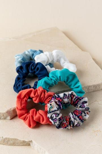 Francescas Maxine Scrunchie Set In Blue - Blue
