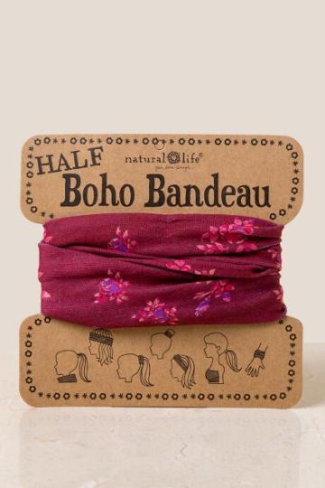 Francesca's Boho Bandeau In Rose Buds - Brick