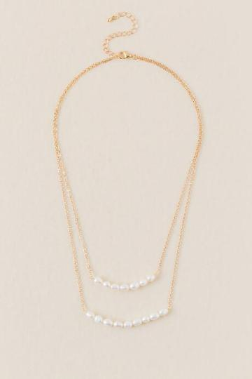 Francesca Inchess Geneva Layered Pearl Necklace - Pearl