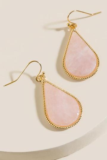 Francesca's Genevieve Teardrop Earrings In Pink - Pale Pink
