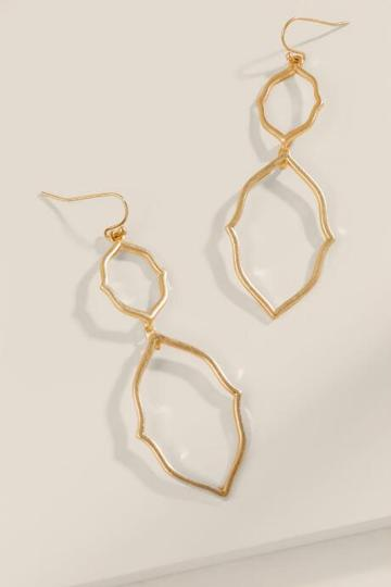 Francesca's Ellen Moroccan Drop Earrings - Gold