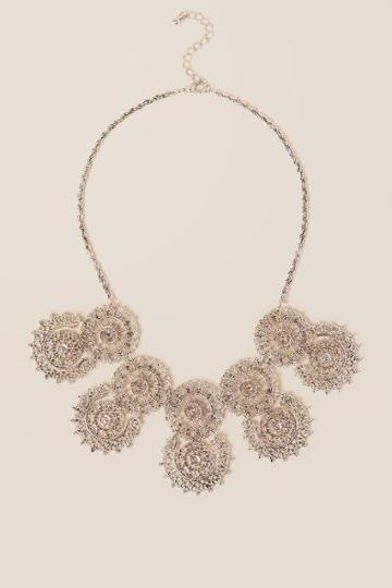 Francesca Inchess Kenslee Filigree Statement Necklace - Silver