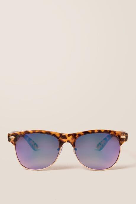 Francesca's Karmela Tortoise New Classic Sunglasses - Tortoise