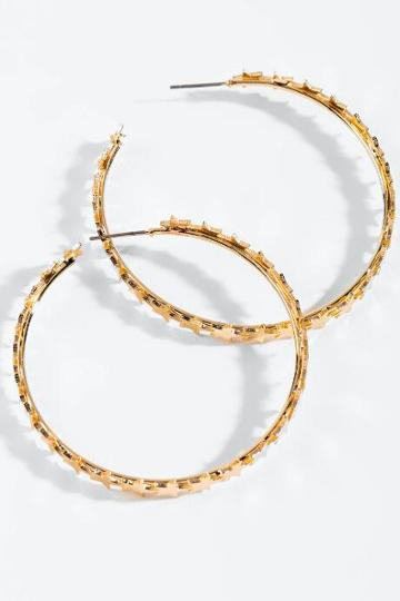 Francesca's Kelsey Mini Star Hoops - Gold