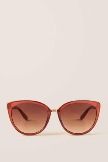Francesca Inchess Monice Cat-eye Sunglasses In Brown - Brown