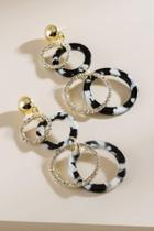 Francesca's Gwen Open Circle Drop Earrings - Black