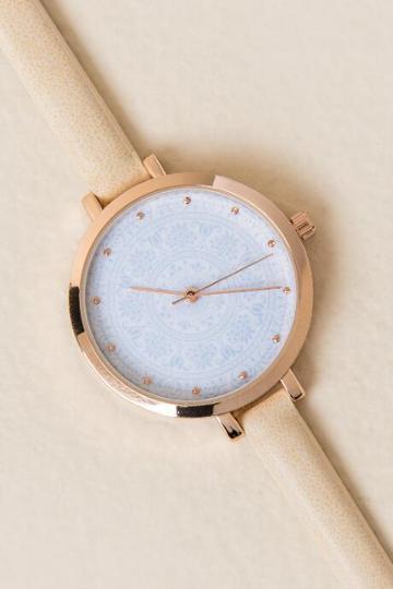 Francesca's Ivey Skinny Watch - Ivory