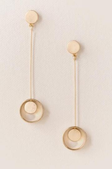 Francesca's Tanna Circle In Hoop Stick Earring - Gold