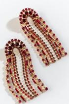 Francesca's Autumn U Shape Linear Earrings - Red