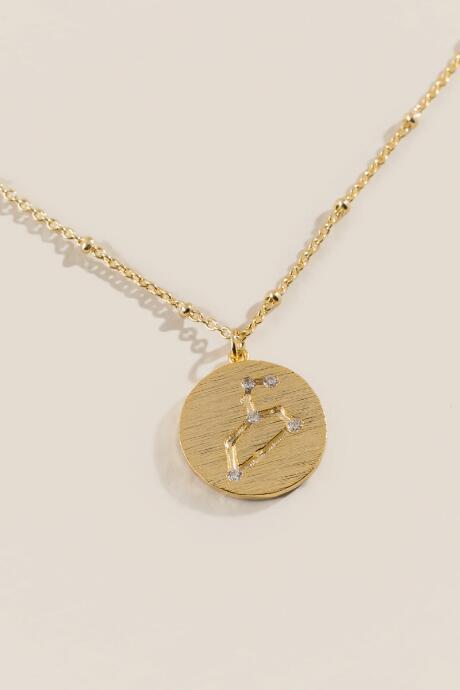 Francesca's Leo Constellation Pendant Necklace - Gold