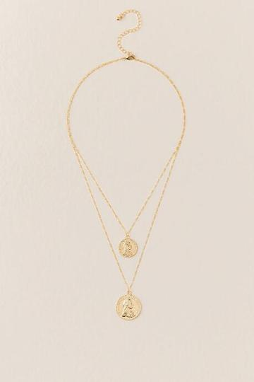 Francesca's Gemma Layered Coin Necklace - Gold