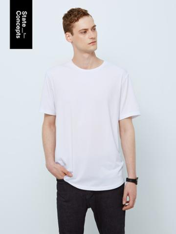 Frank + Oak Sc Drirelease Loose Fit T-shirt In Bright White