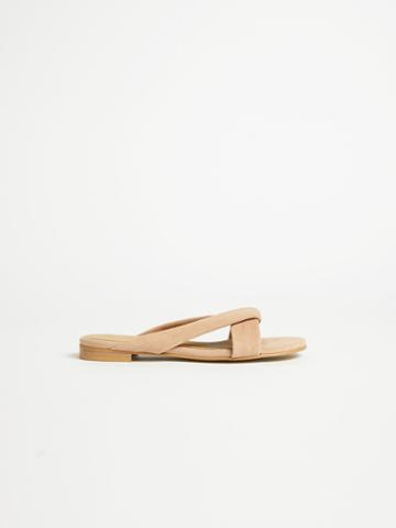 Frank + Oak Strappy Flat Sandal In Light Taupe
