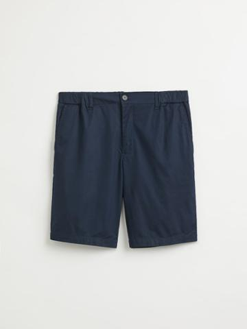 Frank + Oak Drawcord Cotton Shorts In Dark Navy