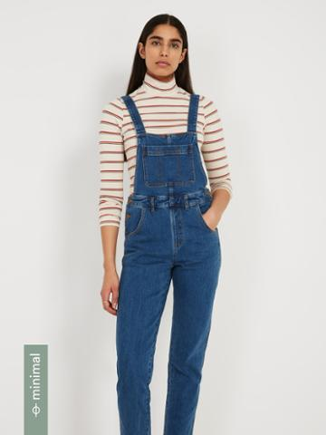 Frank + Oak Denim Overall - Dark Steel Blue