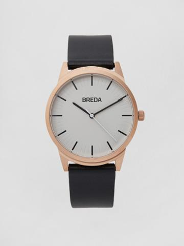 Frank + Oak Breda Watch - Bresson In Rose Gold/black