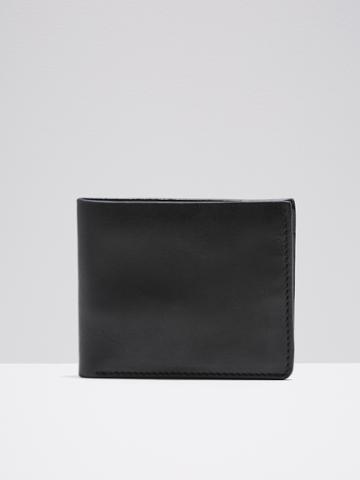 Frank + Oak Leather Slim Bifold Wallet In Black