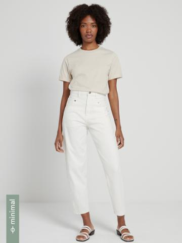 Frank + Oak The Linda High-waisted Balloon-fit Jean In White