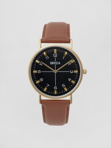Frank + Oak Breda Watch - Belmont In Gold/brown