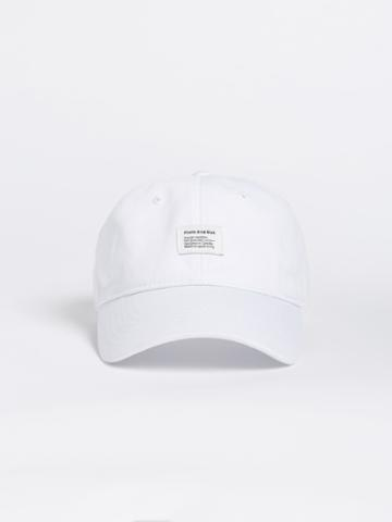 Frank + Oak Washed Cotton Dad Cap - White