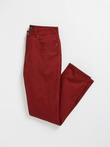 Frank + Oak The Lincoln 5-pocket Twill Pants - Madder Brown