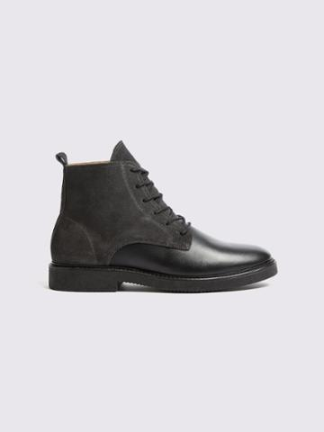 Frank + Oak Leather City Boots In Black