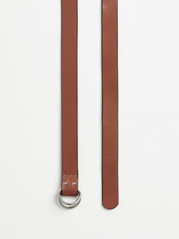 Frank + Oak Leather Ring Belt In Tan