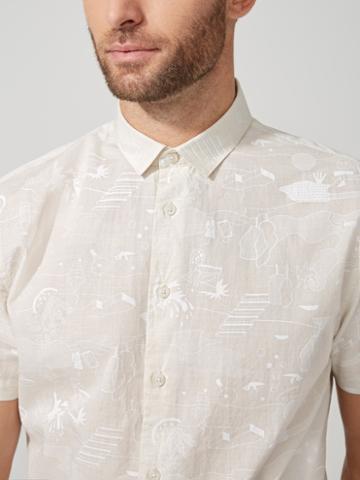 Frank + Oak Summer Print Light-cotton Shirt