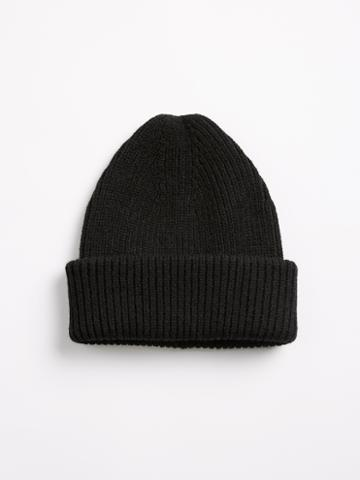 Frank + Oak Half Cardigan Toque - Black
