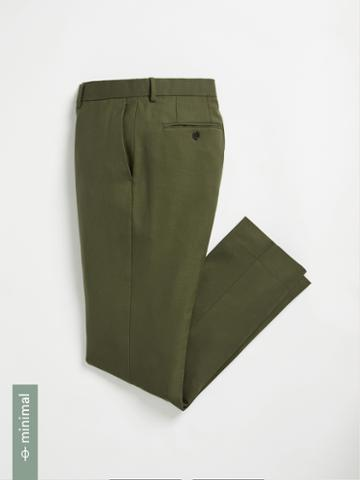 Frank + Oak Washable Wool Laurier Suit Trousers - Green