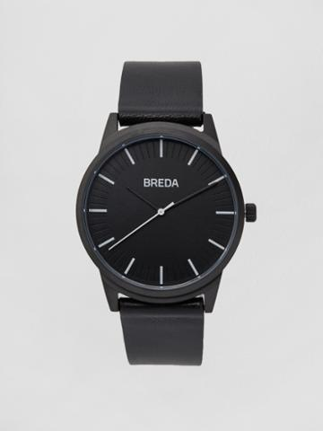 Frank + Oak Breda Watch - Bresson In Black/black