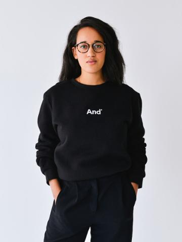 Frank + Oak And Woman French Terry Crewneck In Black