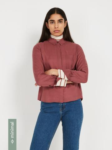 Frank + Oak The Tencel Everyday Blouse - Roan Rouge