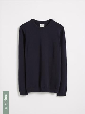 Frank + Oak Organic Recycled Cotton Blend Crewneck Sweater - Navy