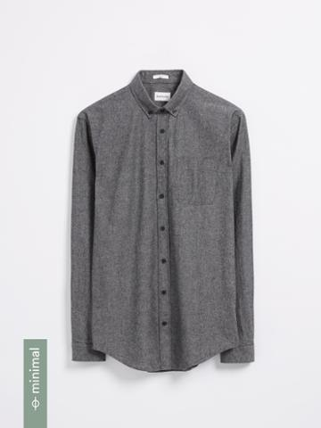 Frank + Oak The Odessa Organic Chambray Shirt - Black
