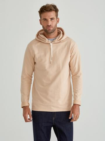 Frank + Oak Organic French Terry Pullover Hoodie In Amberlight