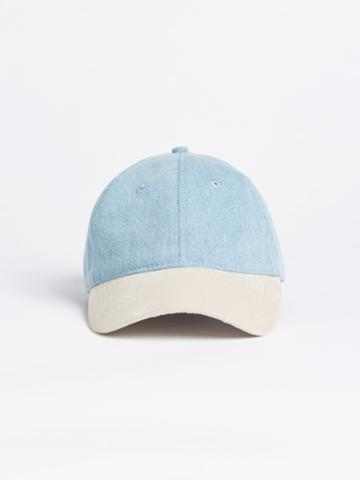 Frank + Oak Bleached Denim Dad Cap - Color Blocked