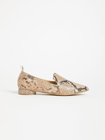 Frank + Oak The District Small-heeled Leather Loafer - Python
