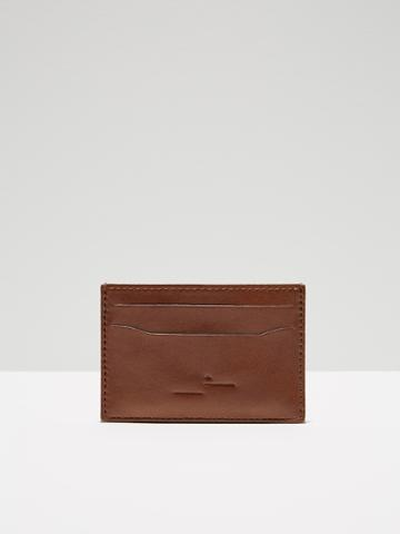 Frank + Oak Leather Card Holder In Brown