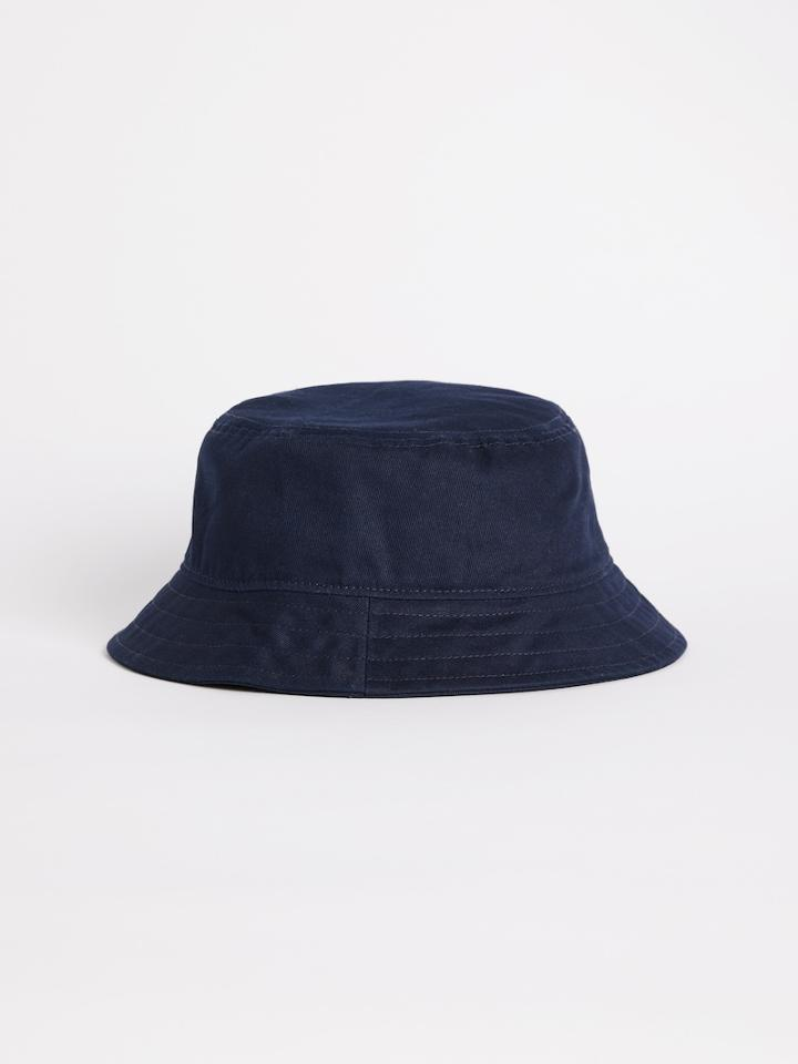 Frank + Oak Washed Cotton Bucket Hat In Dark Navy