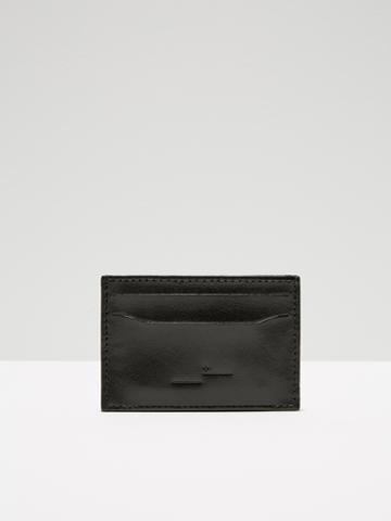 Frank + Oak Leather Card Holder In Black